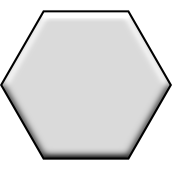 "2"" Hexagonal"