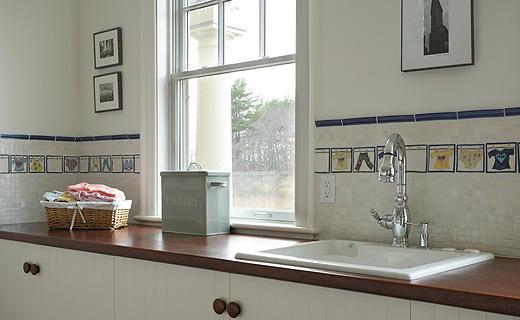 Merveilleux 4×4 Handpainted Clothesline Decorative Tile More